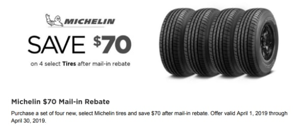 $70 OFF On Set Of 4 Tires NTB Discount