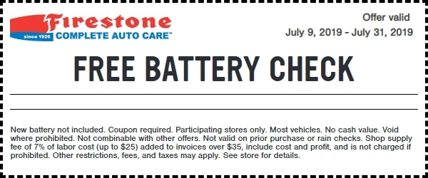 Firestone Free Battery Check Coupon