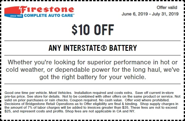 Firestone Interstate Battery Discount