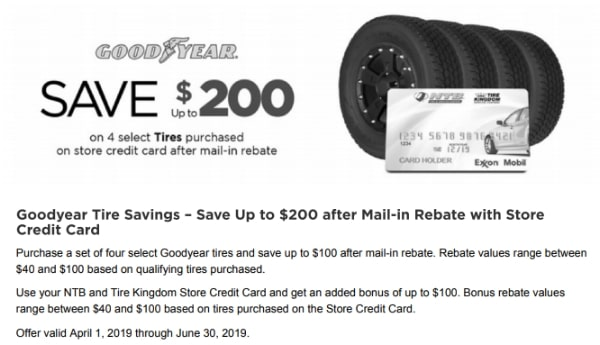 Save Up to $200 on Goodyear Tires with NTB Tire Savings
