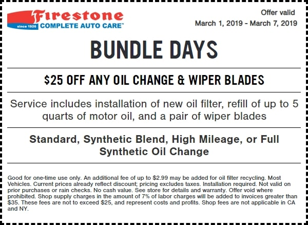 $25 Off Any Oil Change and Wiper Blades Coupon