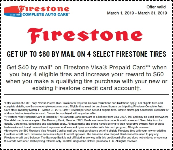 $60 Off Firestone Tires Rebate March 2019-min