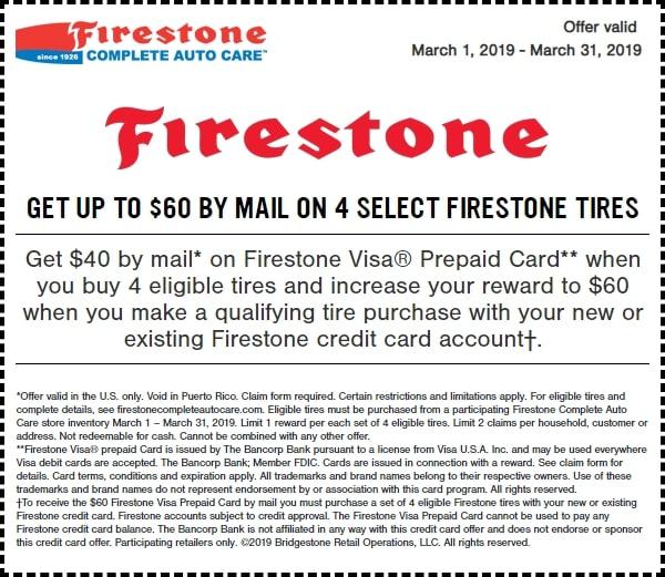 $60 Off Firestone Tires Rebate March 2019-min