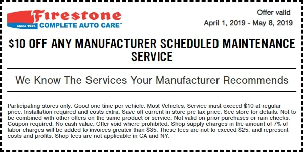 $10 Off Any Manufacturer Scheduled Maintenance Service