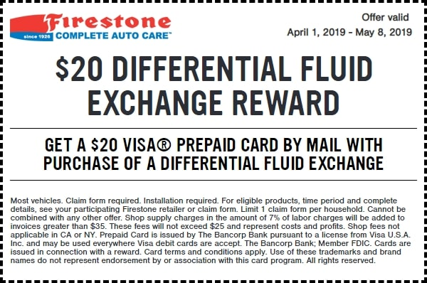 $20 OFF Differential Fluid Exchange Reward