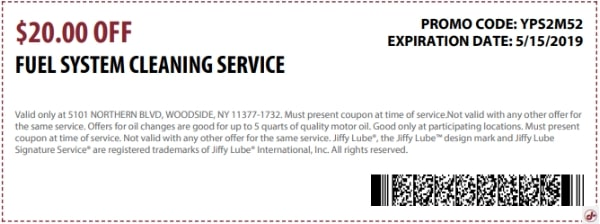 $20 Off Fuel System Cleaning Service Coupon